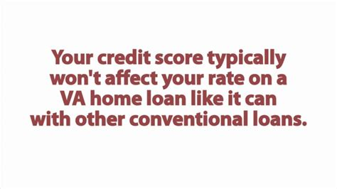 how does my credit score affect my va loan interest rate