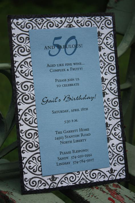 ideas for 50th birthday invitations eysachsephoto