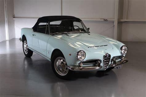 vintage alfa romeo giulia vintage cars 1965 alfa romeo giulia spider veloce 1600