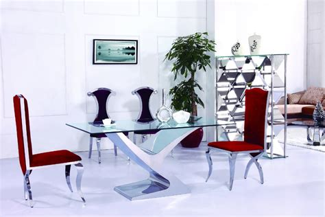 Modern Dinning Room Set Luxury Rectangle Glass Mirrored Dining Igf Usa Modern Dinning Room Set Luxury Rectangle Glass Mirrored