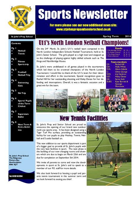 st johns prep school sports newsletter spring 2014