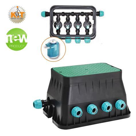 kit irrigazione giardino pozzetto per impianto di irrigazione premontato con 4