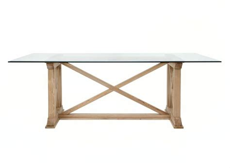 rencourt glass top rectangular dining table dining