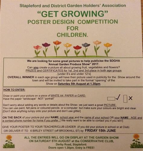 poster design competition uk sdgha children s poster design competition stapleford