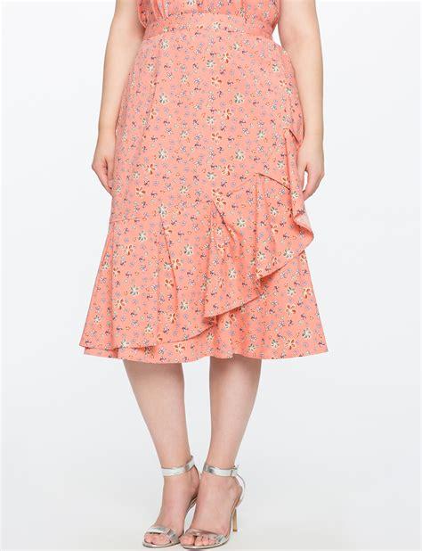 Flower Printed Puffball Skirt For A Summer Garden by Floral Flounce Ruffle Skirt Eloquii