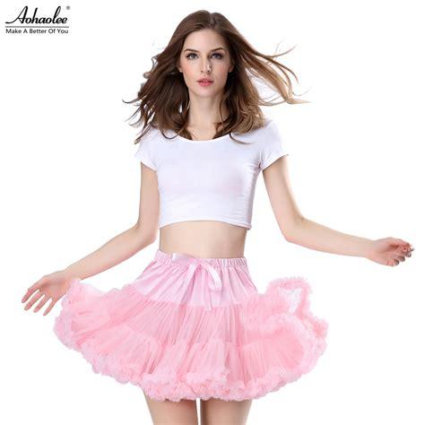 Grosir Baju Tutu Mini Dress aohaolee fashion 3 layers tulle skirts fluffy mini skirts tutu skirt vintage rockabilly