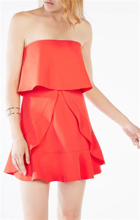 Strapless Frill Dress In The Style Of Miller by Charlot Strapless Ruffle Dress