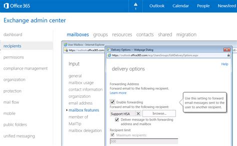 Office 365 Mail Forwarding Admin How To Setup Email Forward In Exchange 2013 Or Exchange