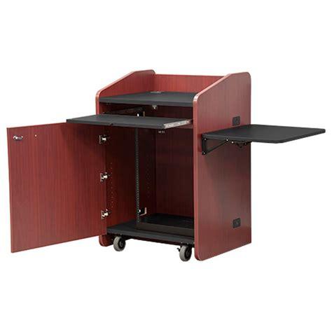 vfi avf audio visual furniture economy podium with rack