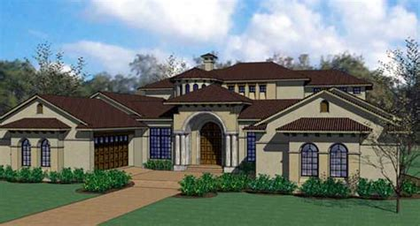 5 bedroom mediterranean house plans mediterranean style house plans 6804 square foot home 2 story 5 bedroom and 5 bath 4