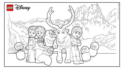 coloring pages lego frozen explore all the friends from frozen coloring page