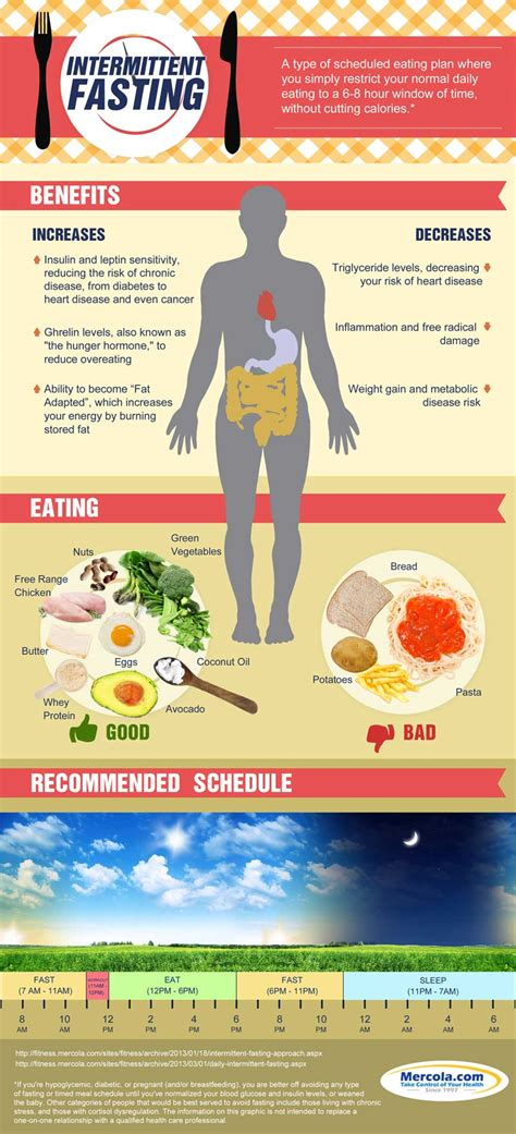 fasting time intermittent fasting infographic diet fasting health