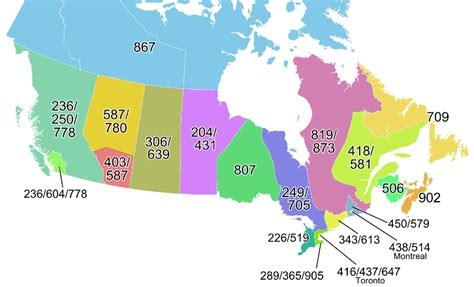 canadian map of area codes area code and lookup information area codes ca