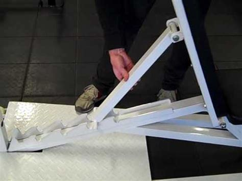 make a weight bench adjustable bench from iron edge youtube