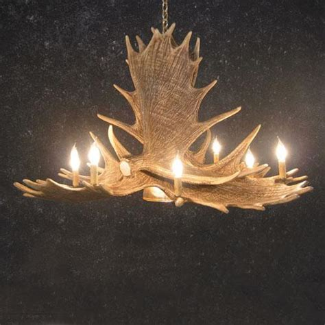 Moose Antler Chandelier Faux Moose Six Antler Chandelier