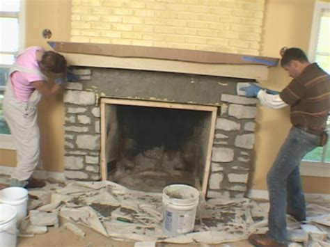 How To Lay Brick Fireplace by Install A Fireplace Mantel And Add Veneer Facing