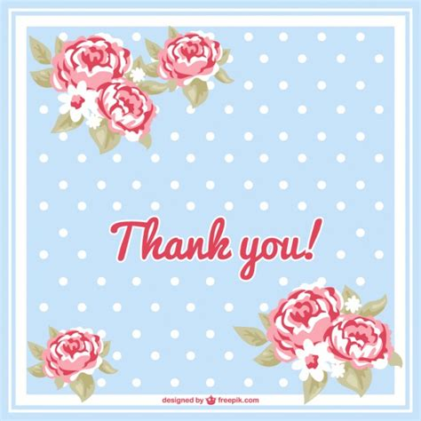 thank you card template free vector floral thank you card vector free