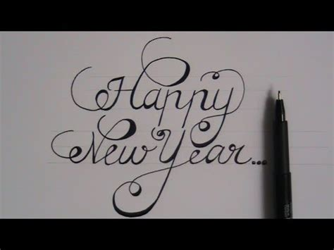 new year in writing how to write in cursive fancy letters happy new year