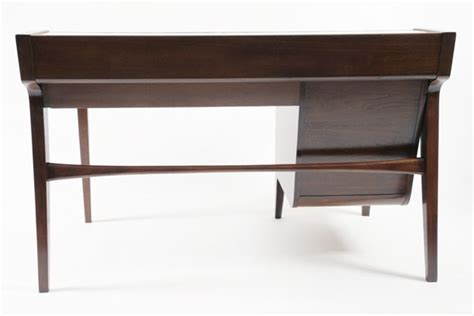 Modern Vintage Desk Drexel Leather Top Desk Red Modern Furniture