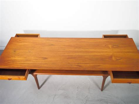 rectangular teak coffee table with drawers for sale