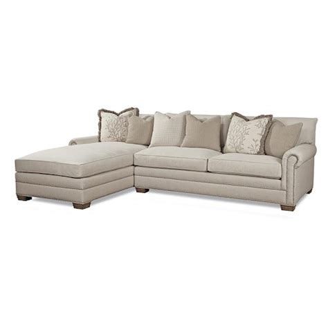 huntington house 7107 traditional sectional sofa with