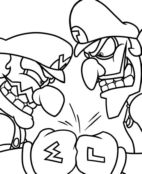 baby wario coloring pages waluigi coloring page www imgkid com the image kid has it