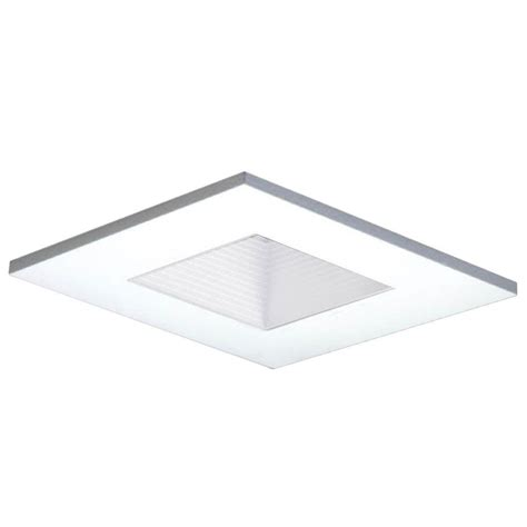 Ceiling Recessed Lighting Halo 3 In White Recessed Ceiling Light Square Adjustable Baffle Trim 3011whwb The Home Depot