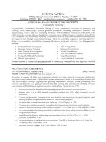 Sles Of Executive Resumes by Sales Executive Resume Sle