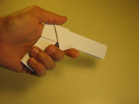 Easy Origami Gun - how to make origami paper gun origami gun folding