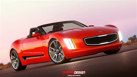 Gt4 Kia Render Kia Gt4 Stinger Cabrio Concept Gtspirit