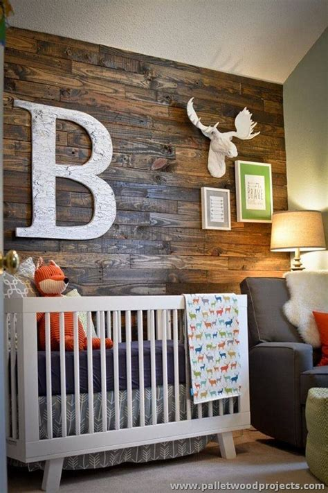 home decor accent accent wall made out of pallets pallet wood projects