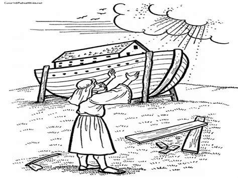 Bible Coloring Pages For Noah by Noah Ark Bible Coloring Coloring Pages