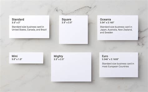Standard Credit Card Size Template business card size standard us images card design and
