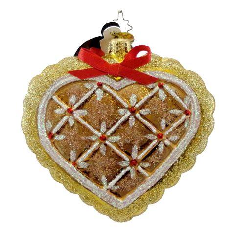 Exceptional Christmas Ornaments Christopher Radko #1: Radko-Gingerbread-Heart-Ornament.jpg