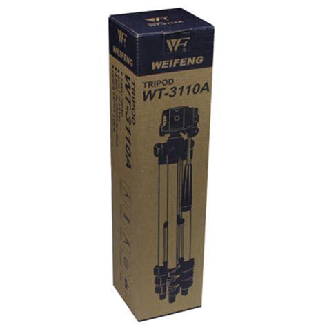Sale Tripod Alumunium Weifeng Wt 3110a weifeng portable tripod stand 4 section aluminium legs with brace wt 3110a silver black