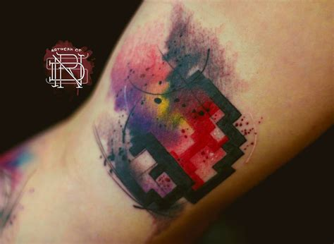 mario mushroom tattoo watercolor mario on bicep best ideas