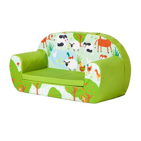kids settee le farm kids soft foam toddlers sofa 2 seater seat nursery
