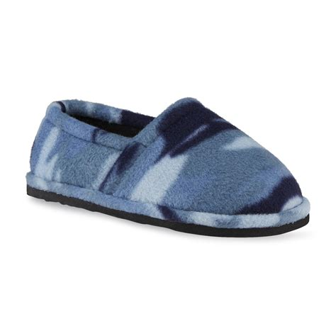Bedroom Slippers At Kmart Route 66 Boy S Gunner Blue Camouflage Indoor Outdoor