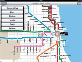 Chicago L Blue Line Map by Chicago Cta Map With Streets