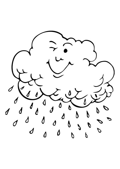 color and learn rain free printable cloud coloring pages for kids