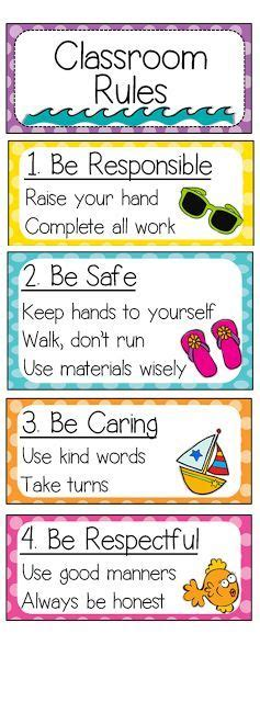 theme exles for elementary students have the classroom rules visible so students never have