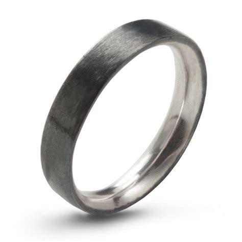 sterling silver comfort fit wedding bands sterling silver wedding ring comfort fit oxidised by