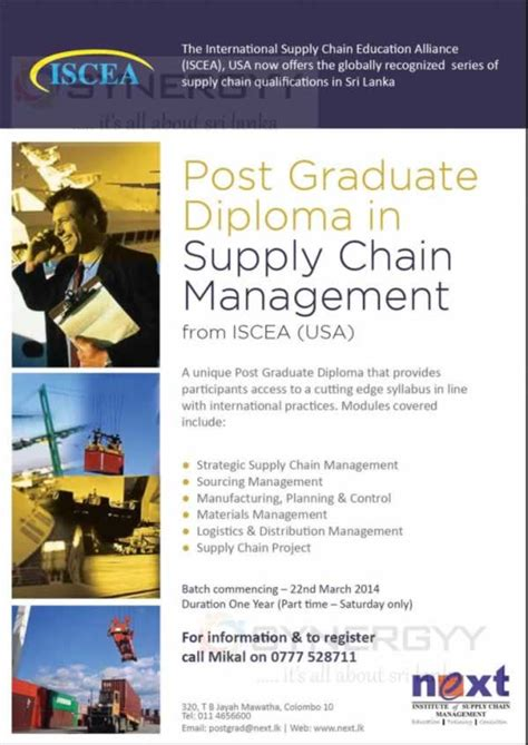 Mba In Supply Chain Management In Usa by Graduate Diploma In Logistics And Supply Chain Management
