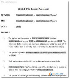 Child Maintenance Agreement Letter Uk Child Support Agreement Template To Document Arrangements