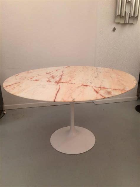 eero saarinen tulip pink marble dining table  stdibs