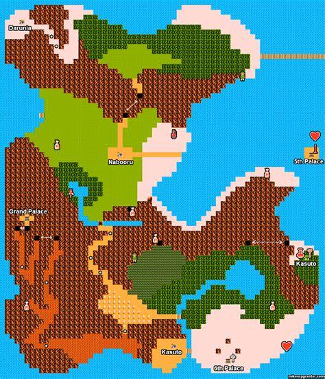 legend of zelda ii map mike s rpg center zelda ii maps hyrule 2nd half