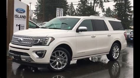 Ford Expedition Max by White 2018 Ford Expedition Max Platinum Trailer Tow Awd