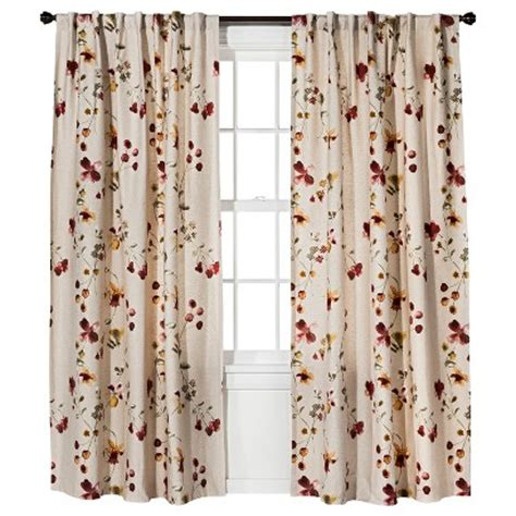 threshold curtain panels threshold watercolor floral curtain panel target