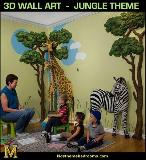 Wall Stickers For Childrens Bedroom jungle safari decorations newsonair org