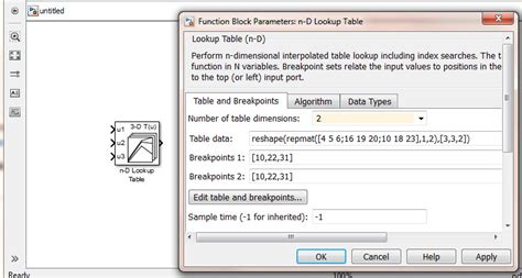 Matlab Lookup Table by Matlab S Function For 2 D Look Up Table Similar To